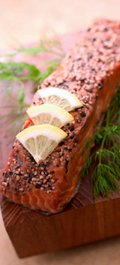 Salmon WIth Peppercorns
