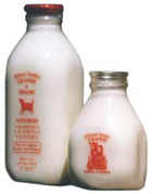 Straus organic milk and cream