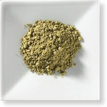 Powdered green matcha tea