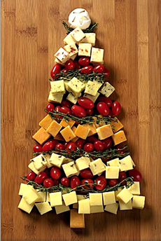 Cheddar Cheese Christmas Tree