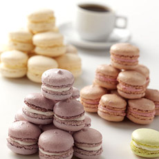 French macarons from L.A. Burdick are meringue sandwich cookies.