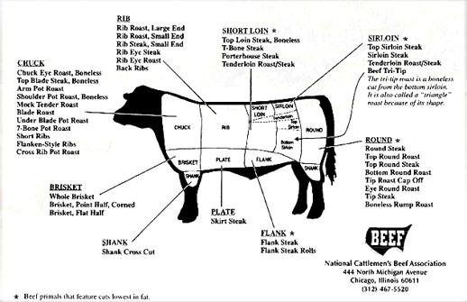 Glossary8 on kosher meat diagram