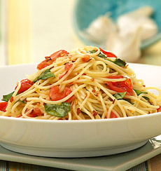 Vegetables and angel hair pasta recipes