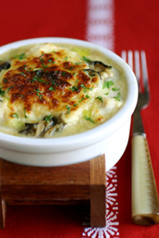Cod and Oyster Gratin