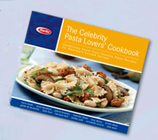 Barilla's New Celebrity Pasta Lovers Cookbook with Recipes ...