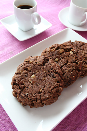 Chocolate Pecan Cookies