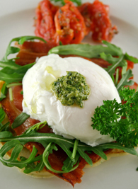 Egg With Pesto