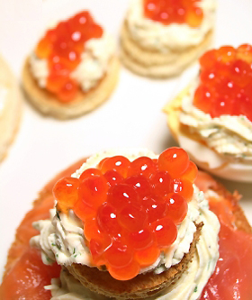 Salmon Caviar Hors D'Oeuvres