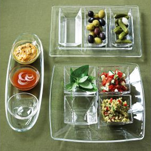 Glass Relish Tray