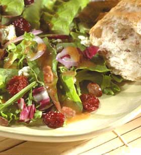 Salad With Nuts and Cherries