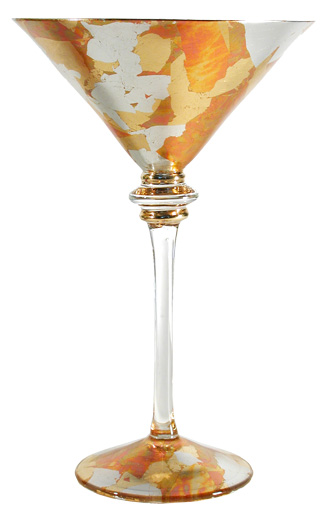 tri-color champagne glass