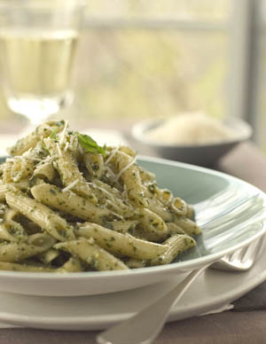 Pasta with Walnut Pesto Sauce