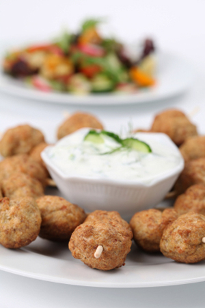 Chicken Meatballs & Tzatziki